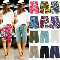 Women Loose Casual Shorts Bermuda Capri Trousers Summer Cropped Pants Plus Size