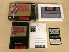The Legend of Zelda A Link To The Past CIB SNES Complete Super Nintendo Used