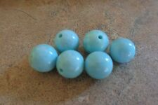 Lot of 6 Natural Vintage Arizona Sleeping Beauty Turquoise Round 8-8.5mm Beads