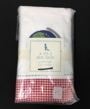 Pottery Barn Kids A TO Z Juponnage Crib Toddler Bed Skirt Red Gingham Check