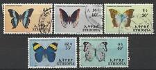 ETHIOPIA 1967 BUTTERFLIES SET USED
