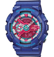 Casio G-Shock Hyper Color Rubber Chronograph Alarm Watch GMAS110HC-2A