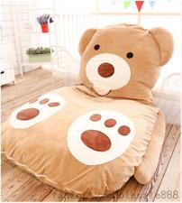 Single Bed Filled Bear Pattern Bed Carpet Large Tatami Mattress Sofa Bean Bag US