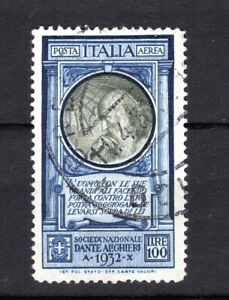 ITALY 1932 ITALIAN AIR AEREA 100 LIRE OF USED STAMPS PMK INTEREST