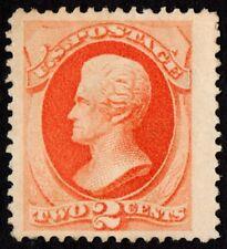 US Sc# 183 *UNUSED H* { JUMBO -XF- 2c JACKSON } BEAUTY SOFT POROUS PAPER OF 1879
