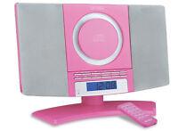 Denver MC-5220 rosa CD Player FM Radio Uhr Wecker Stereoanlage HiFi - B-Ware