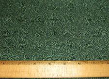 1 yard of GREEN SWIRLS on GREEN 100% Cotton Fabric CHRISTMAS