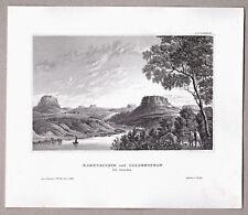 Königstein und Lilienstein an der Elbe bei Dresden. Stich, Stahlstich um 1840