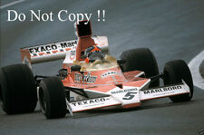 Emerson Fittipaldi McLaren M23 Spanish Grand Prix 1974 Photograph 1