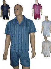 Herren Schlafanzug Shorty kurz zum knöpfen Single-Jersey Gr M-XXXL Baumwollmisch