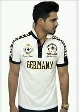 Absolute Rebellion Men fitted short Sleeve White embroidery Polo soccer Germany