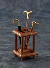 NICE Dollhouse Miniature Filled Umbrella Stand with Canes & Umbrella #DF3031