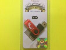 UNIVERSITY OF CINCINNATI LICENSED SPIRIT SWIVEL 4GB USB FLASH DRIVE WITH LANYARD