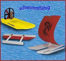 Kaleas Laubsägevorlagen  3 Modelle Katamaran Sumpfboot Auslegerboot