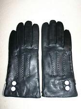 Elegante Lederhandschuhe Damenhandschuhe Handschuhe Leder Damen schwarz Gr 6 1/2