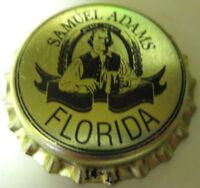 SAMUEL ADAMS FLORIDA Beer CROWN unused Bottle Cap, Boston, MASSACHUSETTS, Man