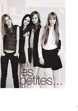 PUBLICITE PM  2011  LES PETITES pret à porter pour jeunes filles en noir & blanc