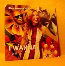 Cardsleeve Single CD MARIE N I Wanna 2TR 2002 Eurovision Winner Latvia
