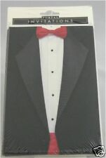 Invitations Black Tie optional cards w/ envelopes 8pcs any occasion
