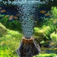 Aquarium Vulkan Form & Luftblase Stein Sauerstoffpumpe Aquarium Ornament D4W5