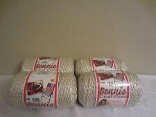Lot of 4 Rolls of Oatmeal 6mm Bonnie Braid Braided Macrame Craft Cord 400yds