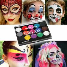 15 Colours Face & Body Paint Professional Palettes Set Pigments Make Up Kit