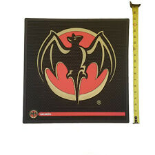 Bacardi  XL Large Black Red Bat Rubber Bar Mat and Rail Mat Combo Man Cave New