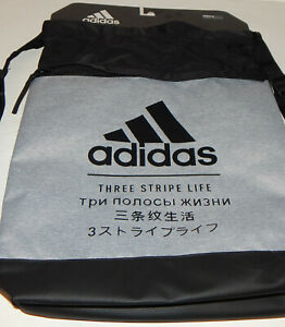 Adidas Three Stripe Life Sackpack Backpack Black OR Grey School Gym Book Bag
