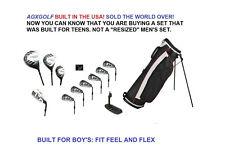 AGXGOLF BOYS TEEN MAGNUM GOLF CLUB SET STAND BAG+DRIVER+3WD+HYBRID+IRONS+PUTTER