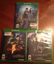 LOT 3 Resident Evil 4 - 5 & 6 XBOX ONE VIDEOGAMES NEW FACTORY SEALED SET CAPCOM