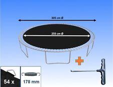 Sprungtuch Sprungmatte für Trampolin Ø 305 cm 54 Ösen Federn 17,8 cm Ersatzteile