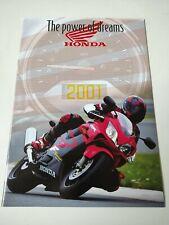 Prospectus Catalogue Brochure Honda Gamme 2001 Belgique