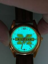 NEW Watch UofM Wolverine Michigan Indiglo Sun-Glo Sun Glo Time Illuminating Glow