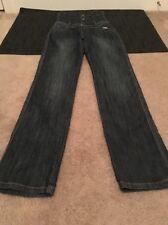 Py Jeans Womens Blue Denim Jeans Push Up Sz 9/10 Clothes Extended High Waist