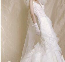 Stunning Fishtail Wedding Dress White Swarovski Size Uk 6 8 Unique