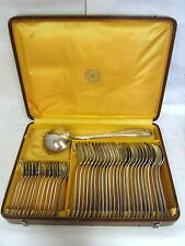 MENAGERE 37 PIECES METAL ARGENTE 84 GR MF MANUFACTURE ST ETIENNE ART DECO