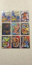 Marvel X-men Spiderman 1990's lot of 9 (chase insert cards gold metal power duo)