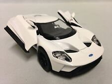 """2017 Ford  GT, 5"""" Diecast Metal, 1:38 ,Pull Back Action,Toys Boys Girls, White"""