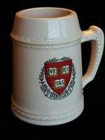 Harvard University Vintage Collectible Mug/Beer Stein Tankard Cream Colored