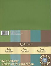 """New Recollections 8.5x11"""" Cardstock Paper Earth Colors 50 Sheets"""