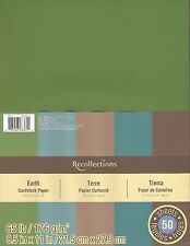 "New Recollections 8.5x11"" Cardstock Paper Earth Colors 50 Sheets"