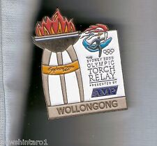 WOLLONGONG   2000 OLYMPIC AMP TORCH RELAY PIN