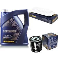 Ölwechsel Set 5L MANNOL Defender 10W-40 Motoröl + SCT Filter KIT 10128916