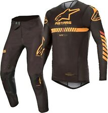 2020 Alpinestars Supertech Negro Naranja Flo Rojo Motocross MX Adulto Raza Gear