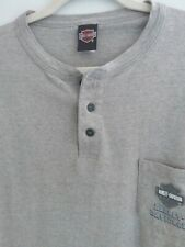 Harley Davidson Mens Size 2XL Short Sleeve Shirt Henley XXL Dallas Garland Texas