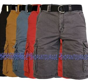 Modern Culture SH189 Stretch Outdoor Cotton Cargo Shorts for Men   Belt Included