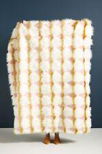 "Anthropologie Coren Faux Fur Throw Blanket 60""x 50"""
