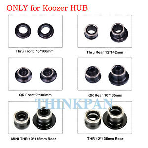 KOOZER Bike Hub QR Quick Release Thru Axle Adapter Converter End Caps 9-10/15-12