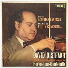 "LP Vinyl 12"" VG 2LP 1962 David Oistrakh Bruch Hindemith Decca LXT 6035 167DA"