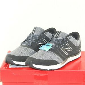 NEW BALANCE 577 womens athletic shoes size 7.5 W black & gray leather/fabric NEW